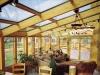 sunroom with wood interior